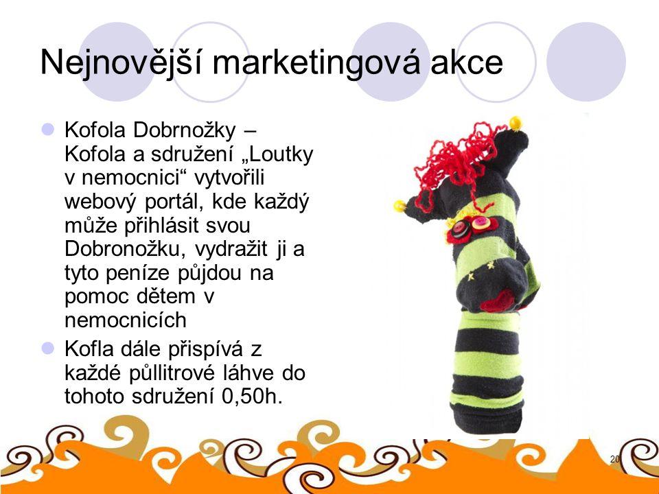 """20 Nejnovější marketingová akce Kofola Dobrnožky – Kofola a sdružení """"Loutky v nemocnici"""" vytvořili webový portál, kde každý může přihlásit svou Dobro"""