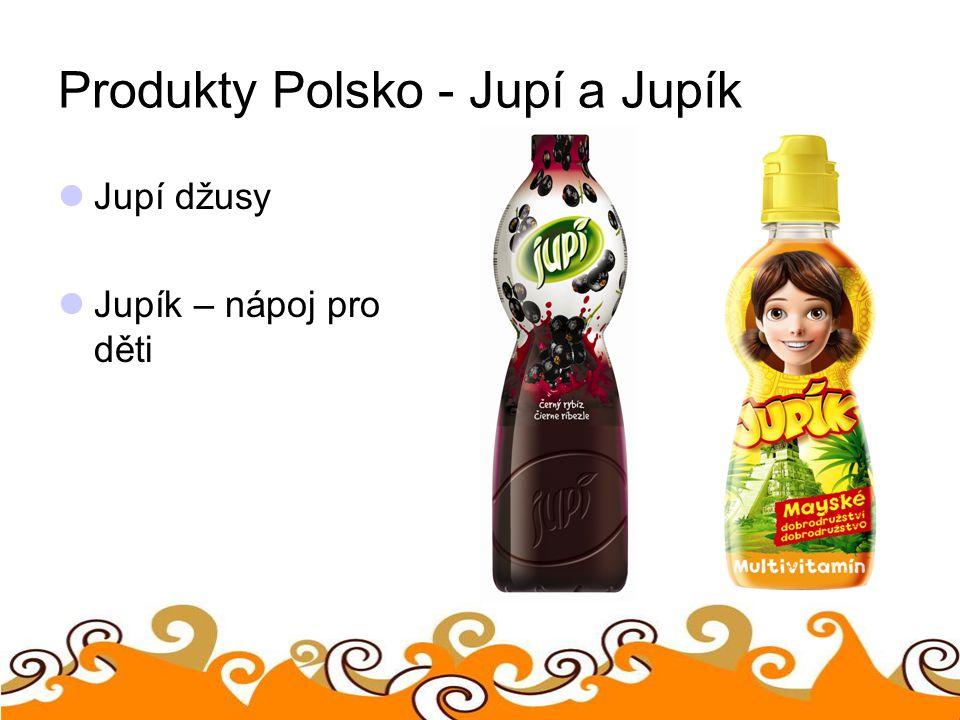 Produkty Polsko - Jupí a Jupík Jupí džusy Jupík – nápoj pro děti