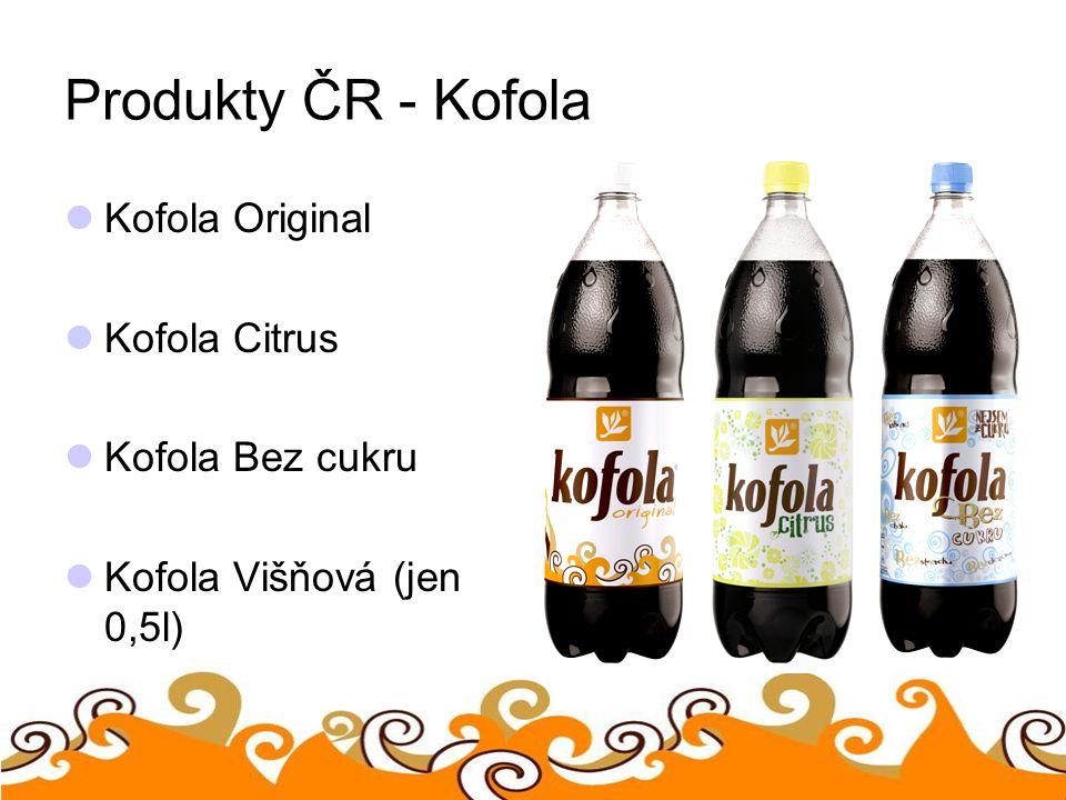 Produkty ČR - Kofola Kofola Original Kofola Citrus Kofola Bez cukru Kofola Višňová (jen 0,5l)