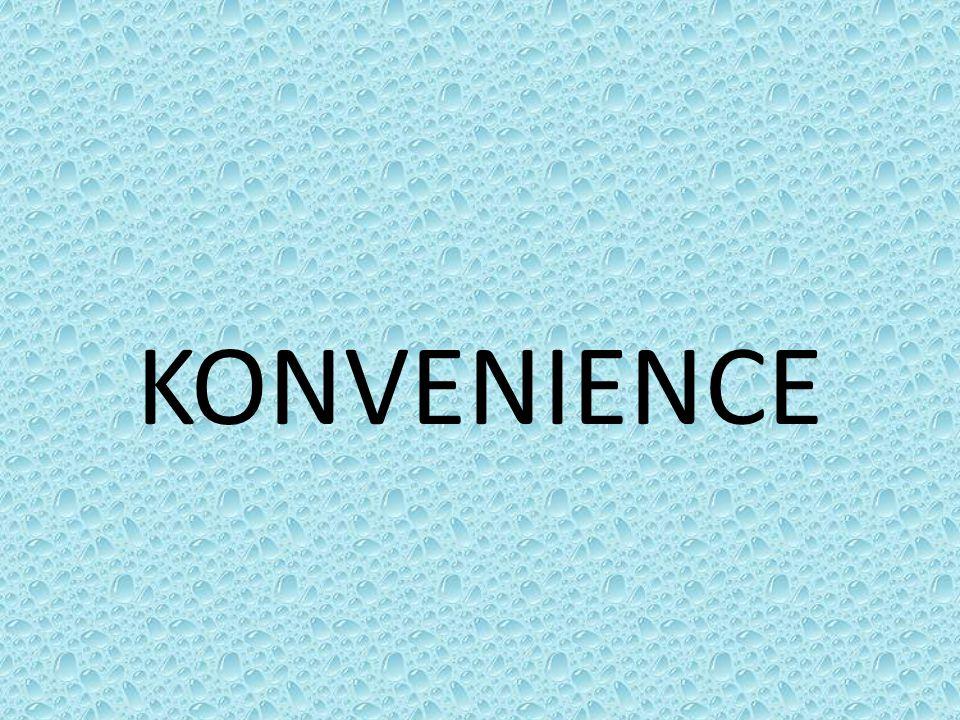 CONVENIENCE Toto anglické slovo znamená pohodlí, výhodnost, snadnost.