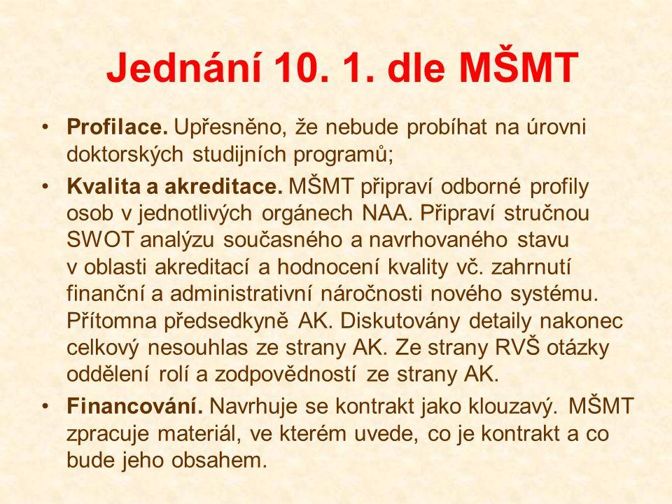 Jednání 15.1. dle MŠMT Konsorcia. Poskytnut další doplňující materiál.