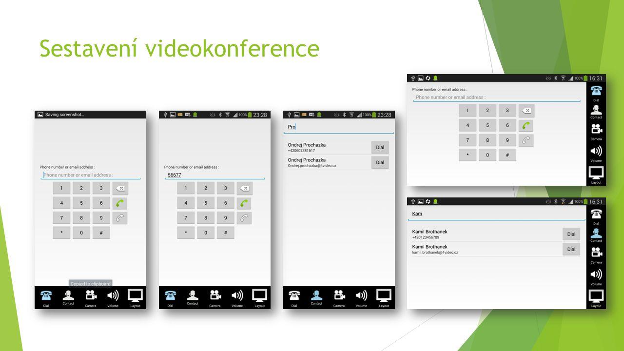 Sestavení videokonference