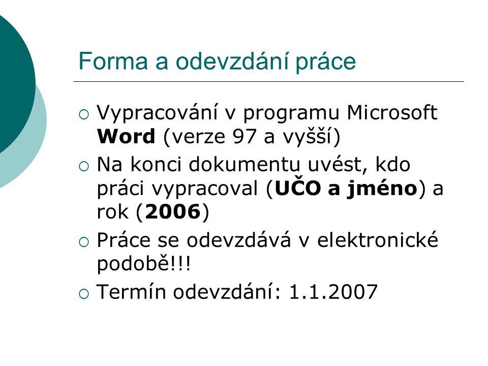 Překlady – seminární práce  Angličtina překlad zadán v ISu  Němčina překlad zadán v ISu  Ostatní jazyky (francouzština, španělština, maďarština) emailem překlad zadá emailem RNDr.