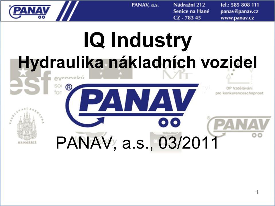 1 IQ Industry Hydraulika nákladních vozidel PANAV, a.s., 03/2011
