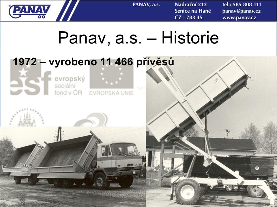 12 Panav, a.s. – Historie 1972 – vyrobeno 11 466 přívěsů