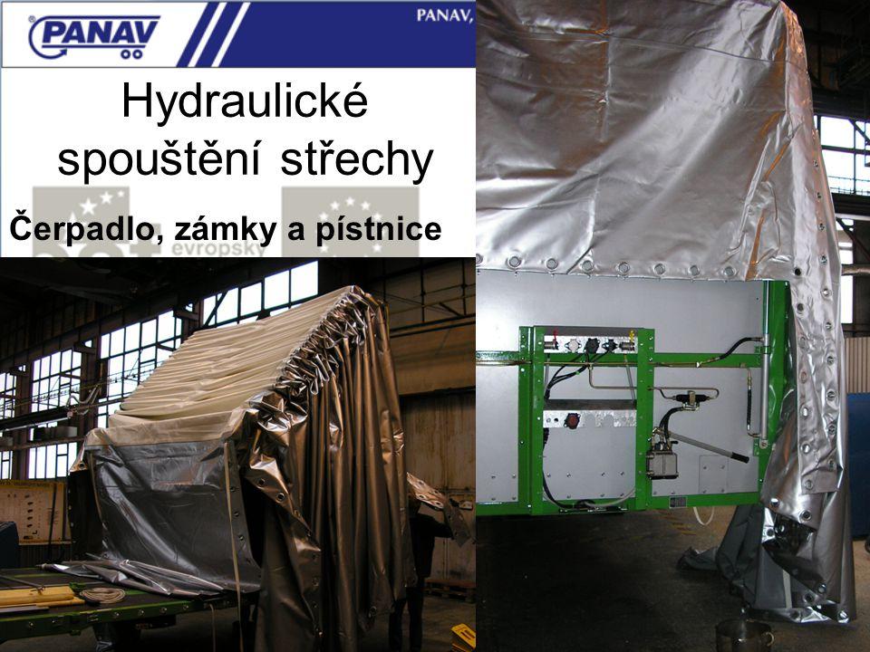 124 Čerpadlo, zámky a pístnice Hydraulické spouštění střechy