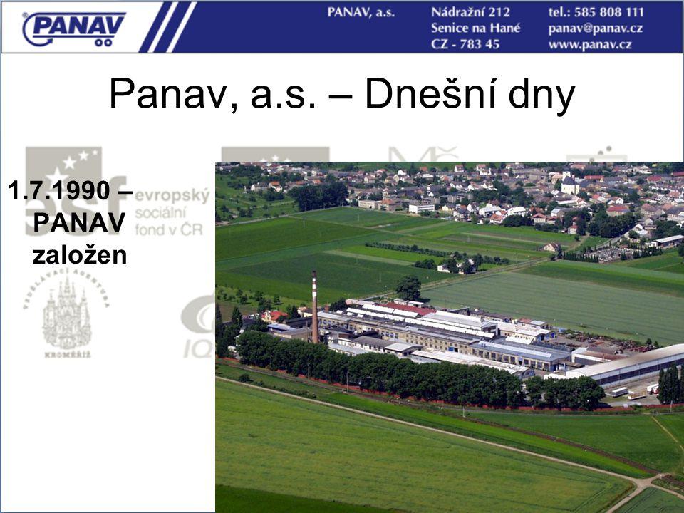 14 Panav, a.s. – Dnešní dny 1.7.1990 – PANAV založen