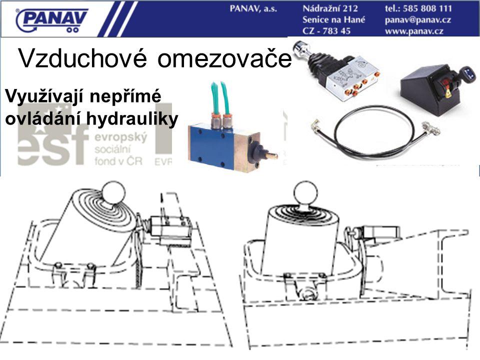 77 Vzduchové omezovače Využívají nepřímé ovládání hydrauliky