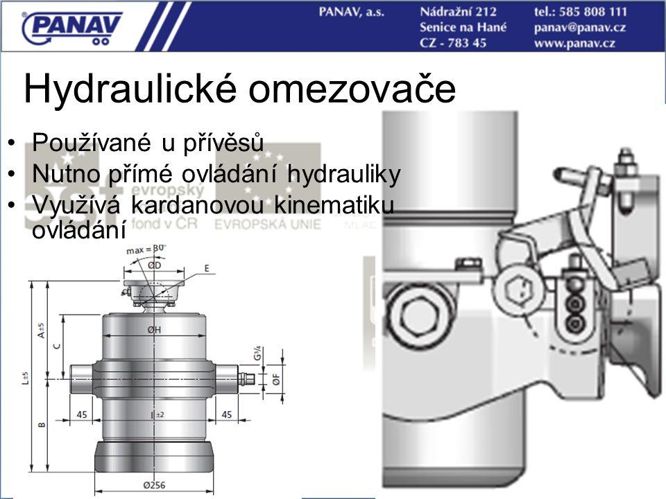 78 Hydraulické omezovače Používané u přívěsů Nutno přímé ovládání hydrauliky Využívá kardanovou kinematiku ovládání