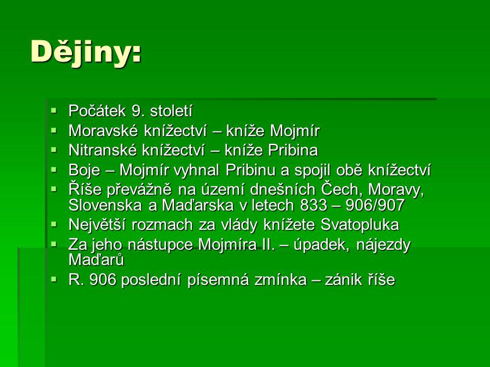 Slovanské písemnictví:  Kníže Rostislav – snaha bránit politickému tlaku VFŘ – žádost byzantskému císaři  R.