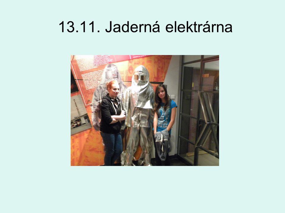 13.11. Jaderná elektrárna