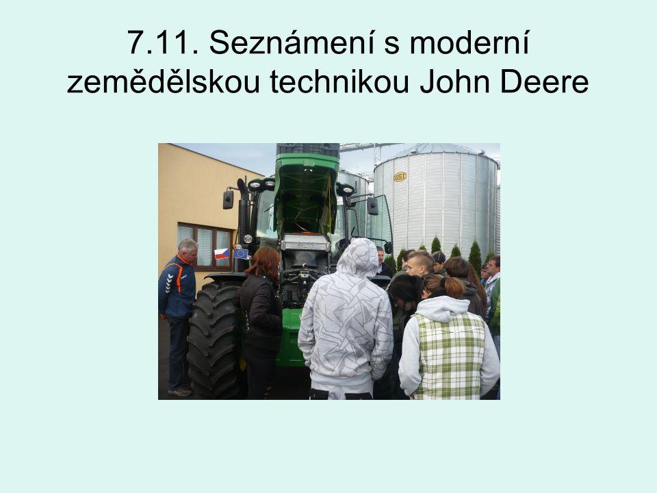 7.11. Seznámení s moderní zemědělskou technikou John Deere