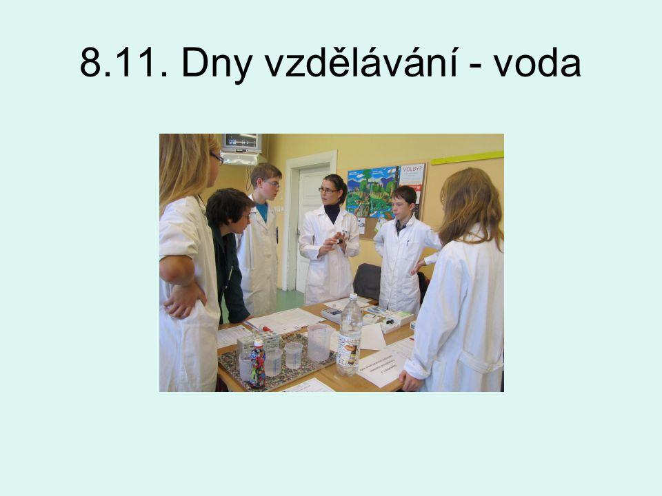8.11. Dny vzdělávání - voda