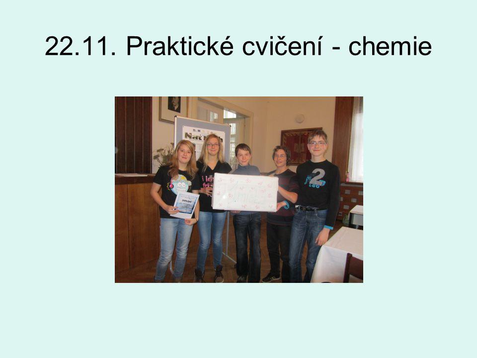22.11. Praktické cvičení - chemie