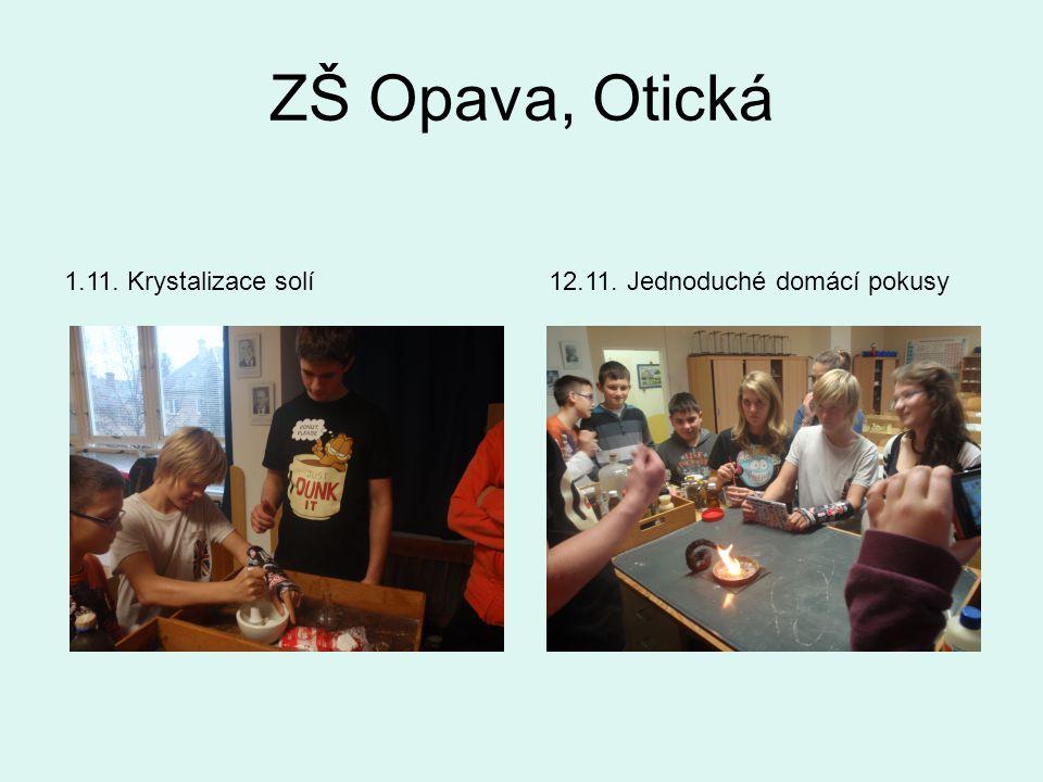 ZŠ Opava, Otická 12.11. Jednoduché domácí pokusy1.11. Krystalizace solí