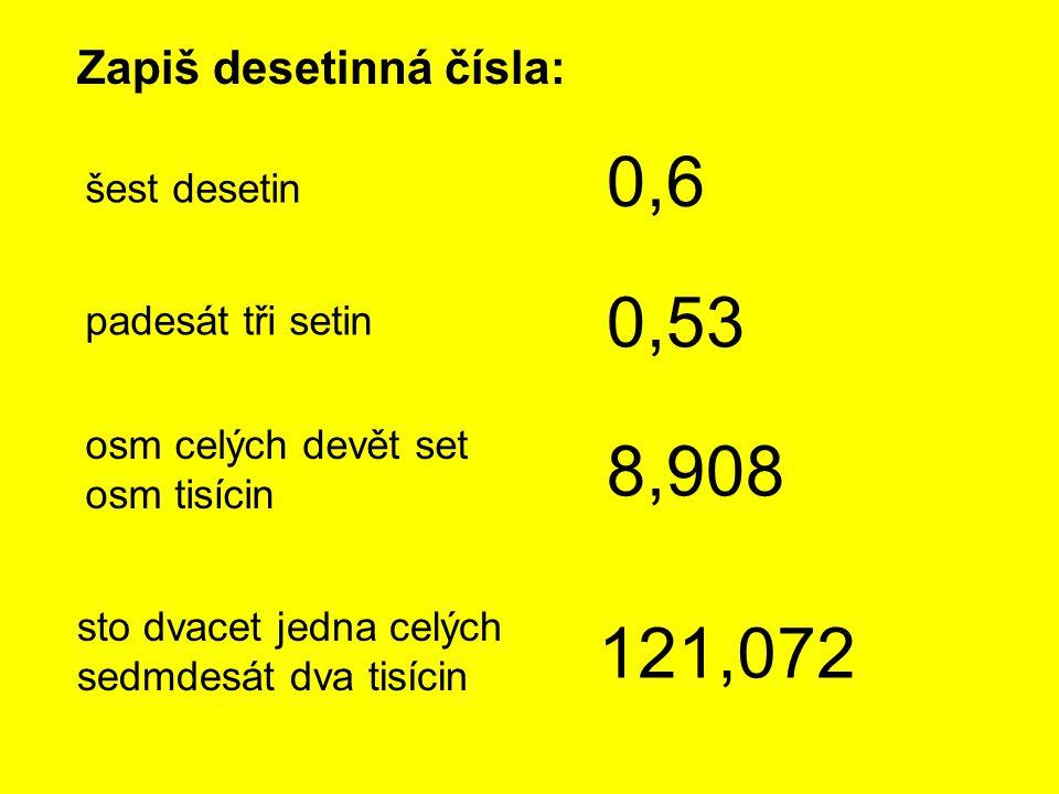 DESETINNÉ ZLOMKY Zlomky se jmenovatelem 10, 100, 1 000, 10 000, 100 000, 1 000 000 nazýváme desetinné zlomky.