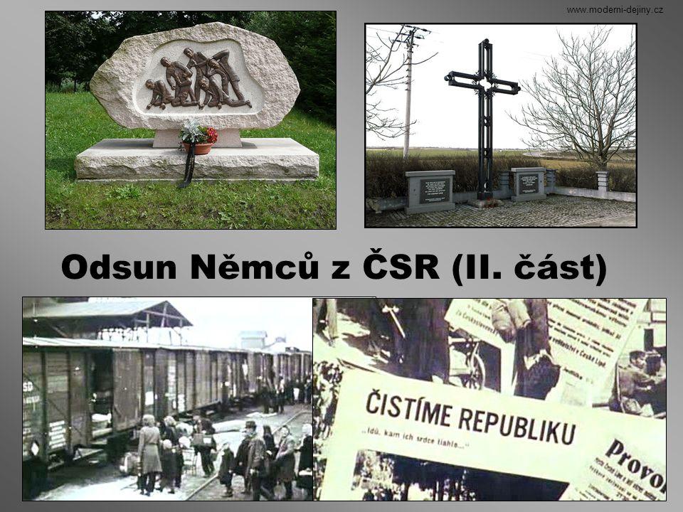 tzv. organizovaný odsun v železničních vagónech www.moderni-dejiny.cz