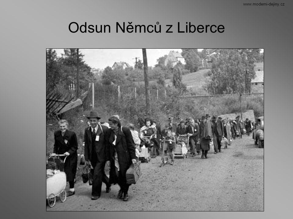 Odsun Němců z Liberce www.moderni-dejiny.cz