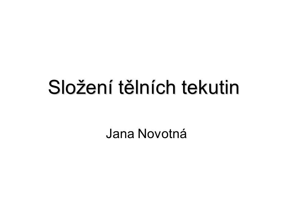 Složení tělních tekutin Jana Novotná