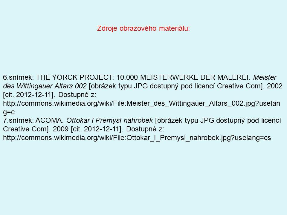 6.snímek: THE YORCK PROJECT: 10.000 MEISTERWERKE DER MALEREI. Meister des Wittingauer Altars 002 [obrázek typu JPG dostupný pod licencí Creative Com].