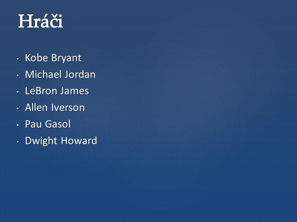 Kobe Bryant Kobe Bryant Michael Jordan Michael Jordan LeBron James LeBron James Allen Iverson Allen Iverson Pau Gasol Pau Gasol Dwight Howard Dwight Howard