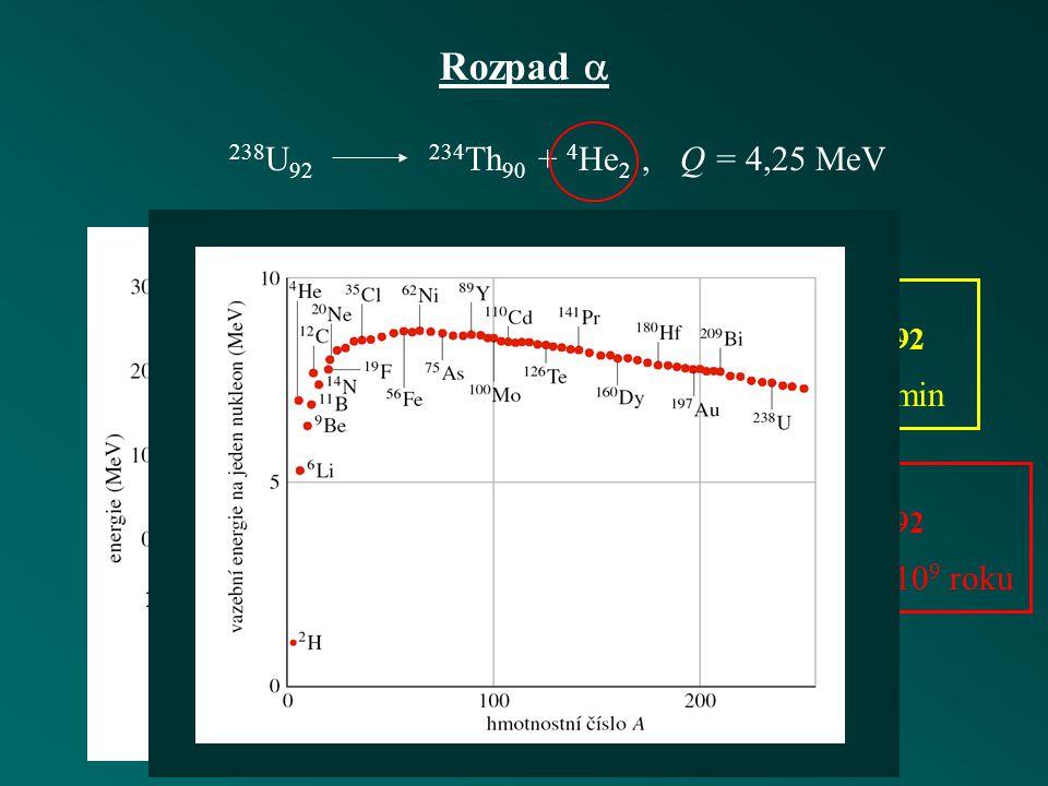 Statistika radioaktivního rozpadu poločas rozpaduaktivita vzorku 1 becquerel = 1 rozpad za s