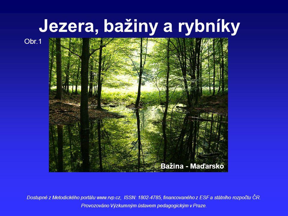 Jezera, bažiny a rybníky Dostupné z Metodického portálu www.rvp.cz, ISSN: 1802-4785, financovaného z ESF a státního rozpočtu ČR. Provozováno Výzkumným