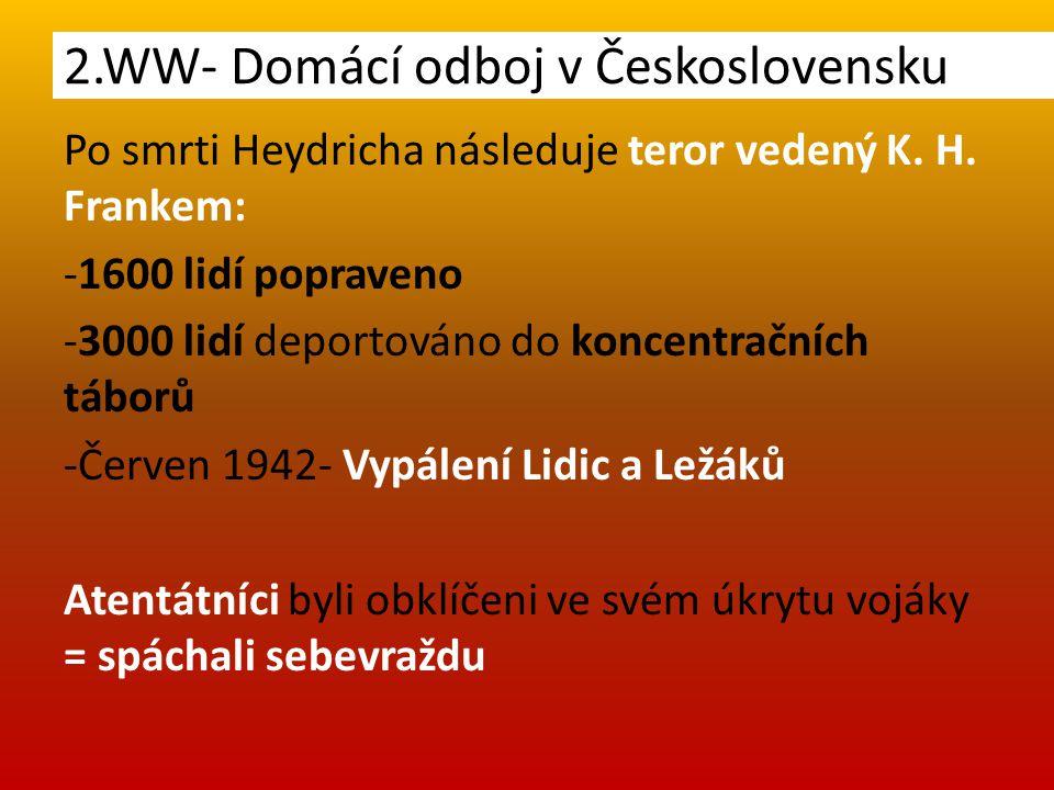 Po smrti Heydricha následuje teror vedený K. H.