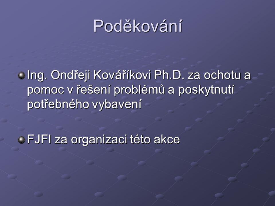Poděkování Ing. Ondřeji Kováříkovi Ph.D.
