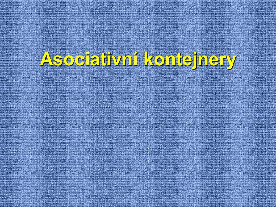 Asociativní kontejnery