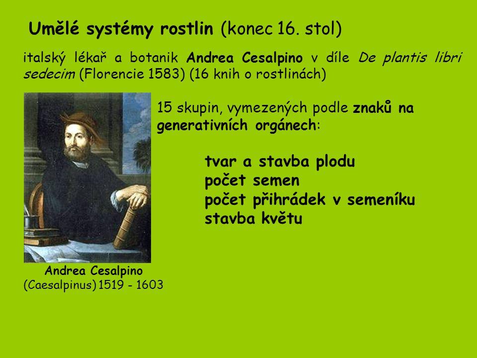 Za vrchol umělých systémů je považováno dílo Švéda Karla Linnéa.