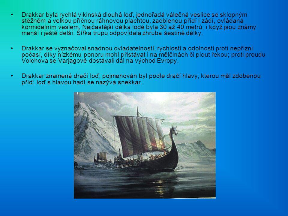 Drakkar byla rychlá vikinská dlouhá loď, jednořadá válečná veslice se sklopným stěžněm a velkou příčnou ráhnovou plachtou, zaoblenou přídí i zádí, ovládaná kormidelním veslem.