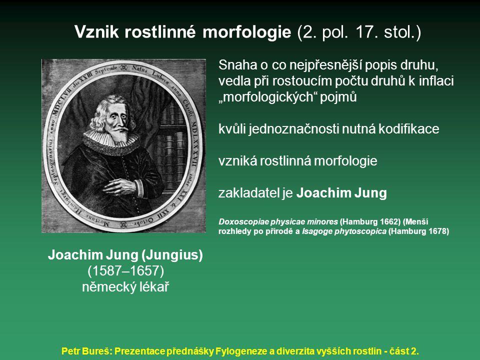 Petr Bureš: Prezentace přednášky Fylogeneze a diverzita vyšších rostlin - část 2. Snaha o co nejpřesnější popis druhu, vedla při rostoucím počtu druhů