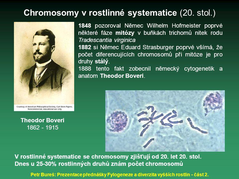 Petr Bureš: Prezentace přednášky Fylogeneze a diverzita vyšších rostlin - část 2. 1848 pozoroval Němec Wilhelm Hofmeister poprvé některé fáze mitózy v