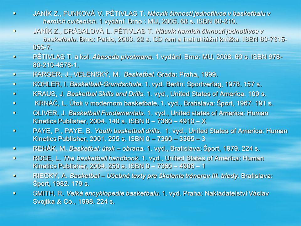 Odkazy na basketbalové webové stránky :  oficiální stránka Českého basketbalového svazu www.cbf.cz www.cbf.cz  ČBF Jižní Morava - oficiální stránky ČBF Jižní Morava www.cbfjm.cz ČBF Jižní Moravawww.cbfjm.cz ČBF Jižní Moravawww.cbfjm.cz