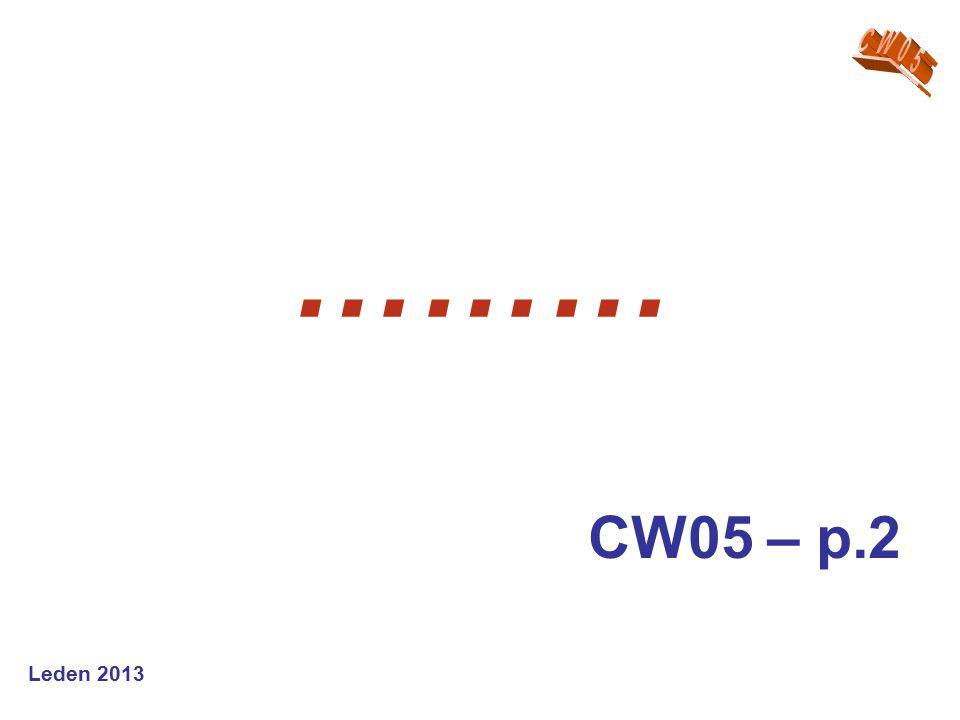Leden 2013 ……… CW05 – p.2