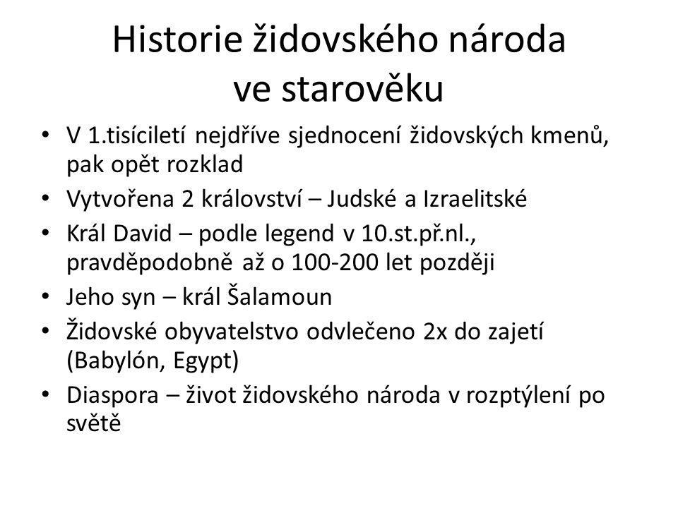 Úkoly k tématu 1.Vysvětli pojem diaspora.2.Co znamená slovo holokaust.