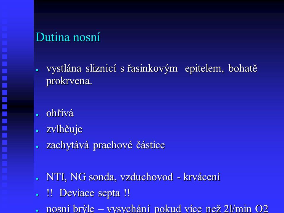 Astma ● Nadprodukce hlenu ● Bronchokonstrikce
