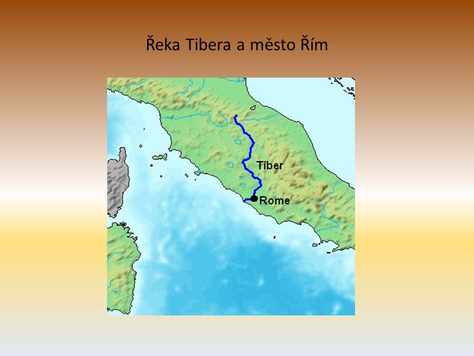 Řeka Tibera a město Řím
