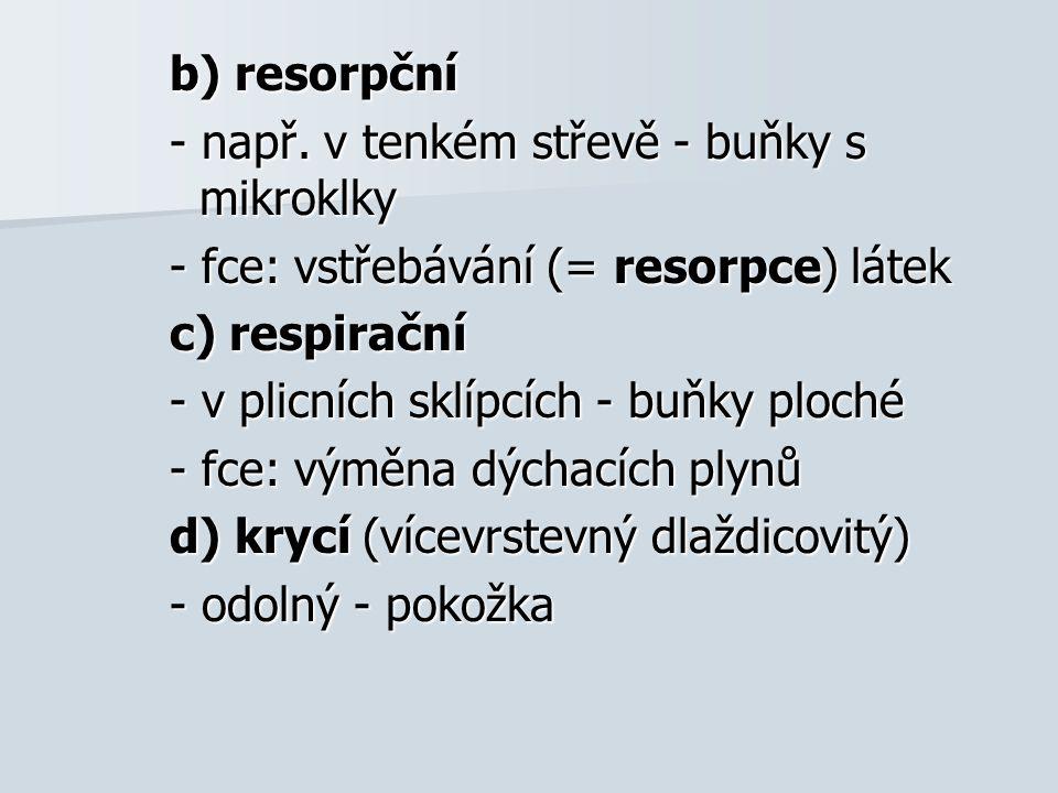 b) resorpční - např.