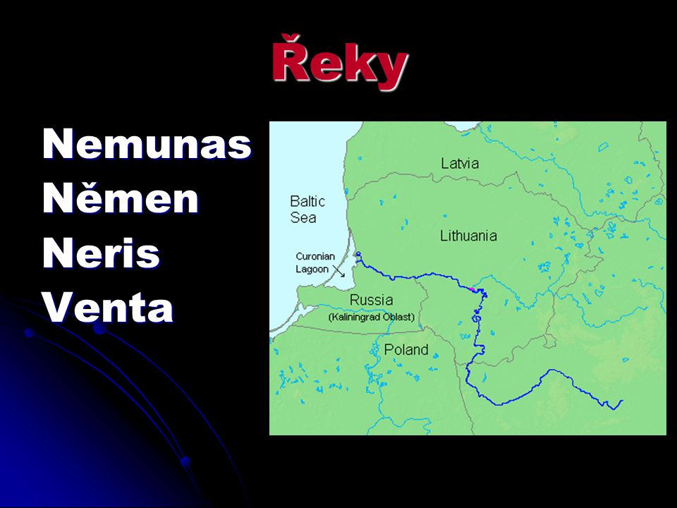 Řeky NemunasNěmenNerisVenta