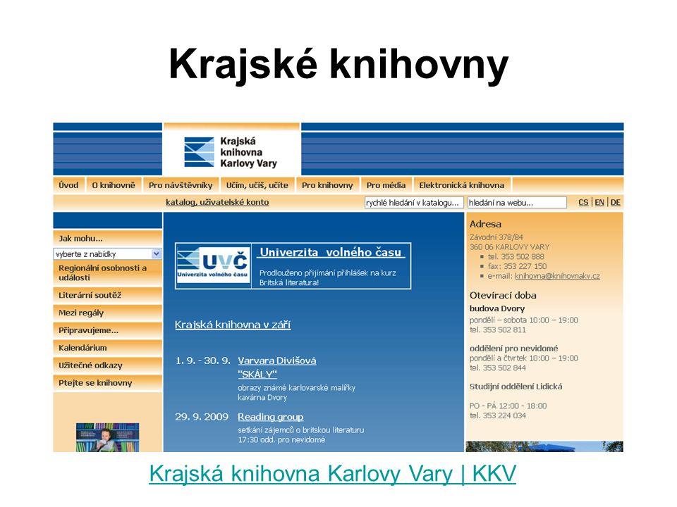 Krajské knihovny Krajská knihovna Karlovy Vary | KKV