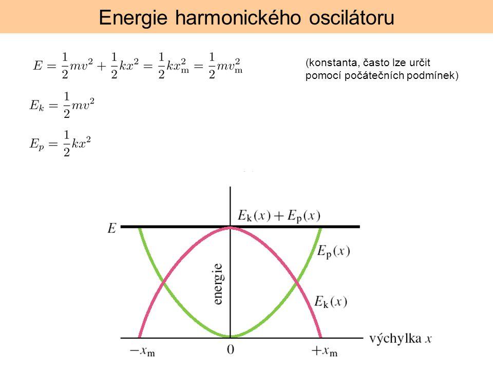 Energie harmonického oscilátoru (konstanta, často lze určit pomocí počátečních podmínek)