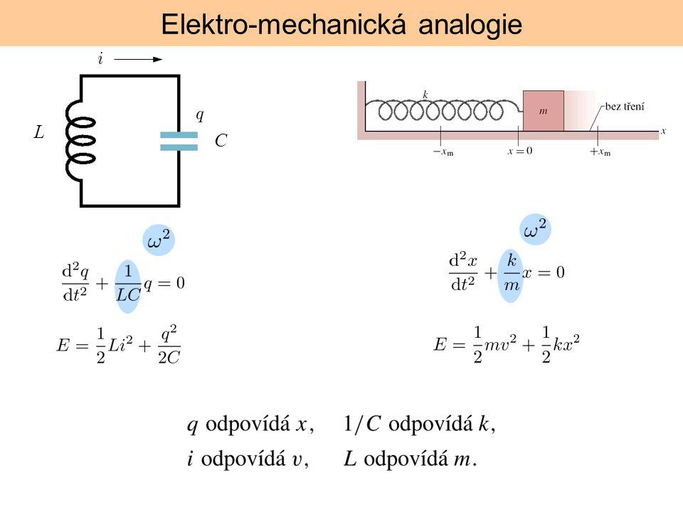 Elektro-mechanická analogie L C