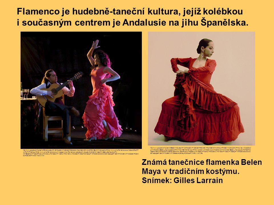 Známá tanečnice flamenka Belen Maya v tradičním kostýmu. Snímek: Gilles Larrain Flamenco je hudebně-taneční kultura, jejíž kolébkou i současným centre