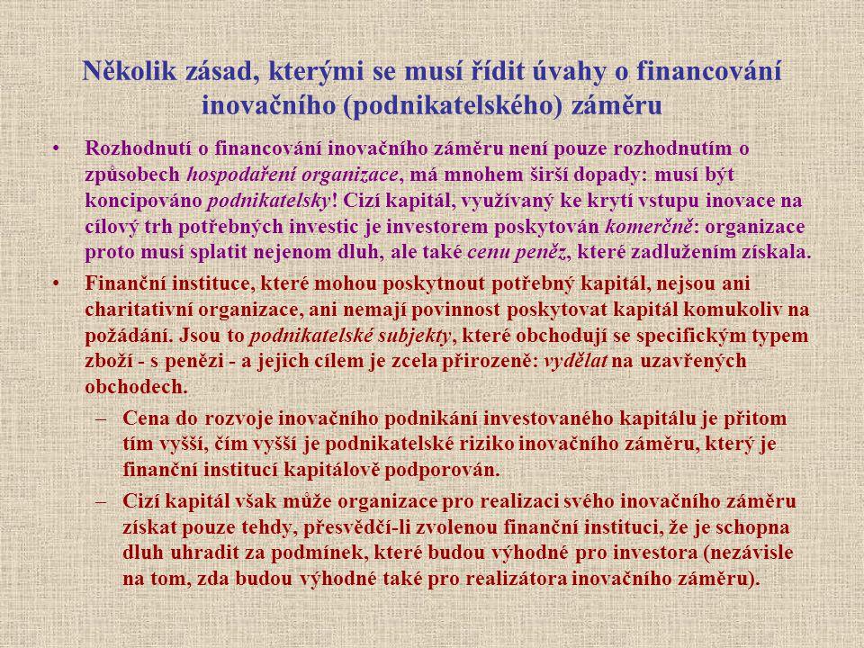 CF: Výkaz o finančních tocích přehled o příjmech a výdajích v určitém období (cyklu obnovy finančních toků) a o výši peněžní zásoby organizace, která musí být trvale likvidní Výnosy jsou účetní pojem, vznikají okamžikem odeslání faktury zákazníkovi; příjem (inkaso peněz!) reálně vzniká později, teprve až zákazník fakturu uhradí.