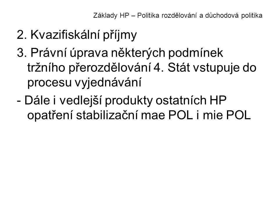 Základy HP – Politika rozdělování a důchodová politika 2.