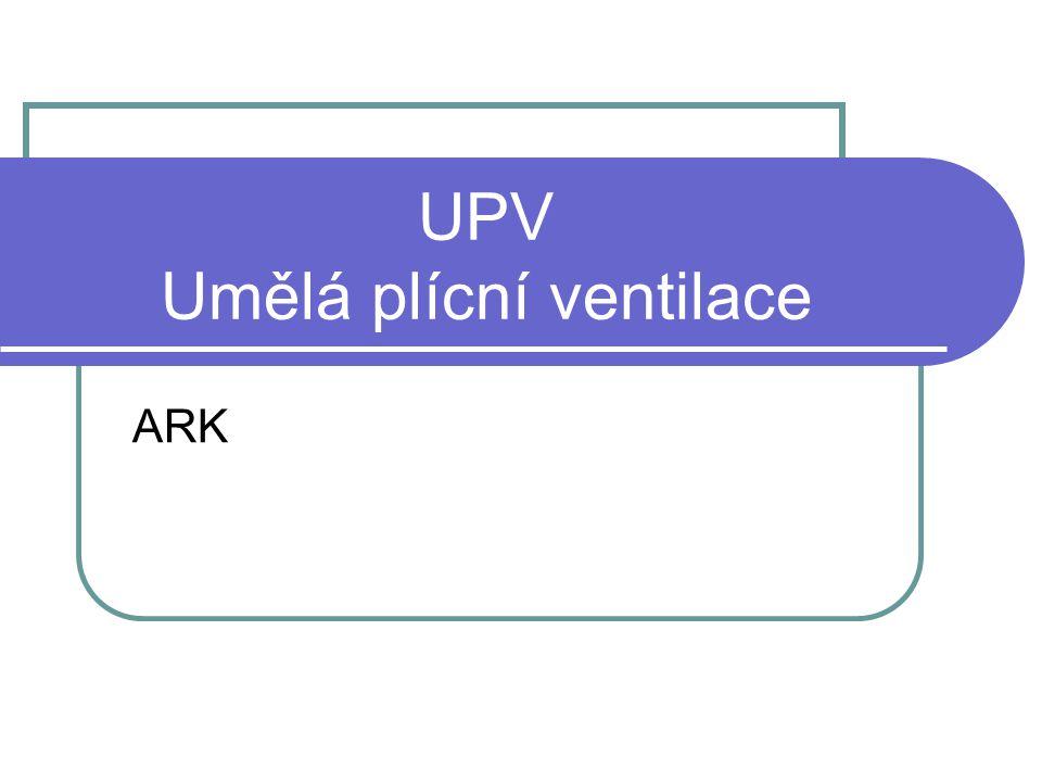 UPV Umělá plícní ventilace ARK