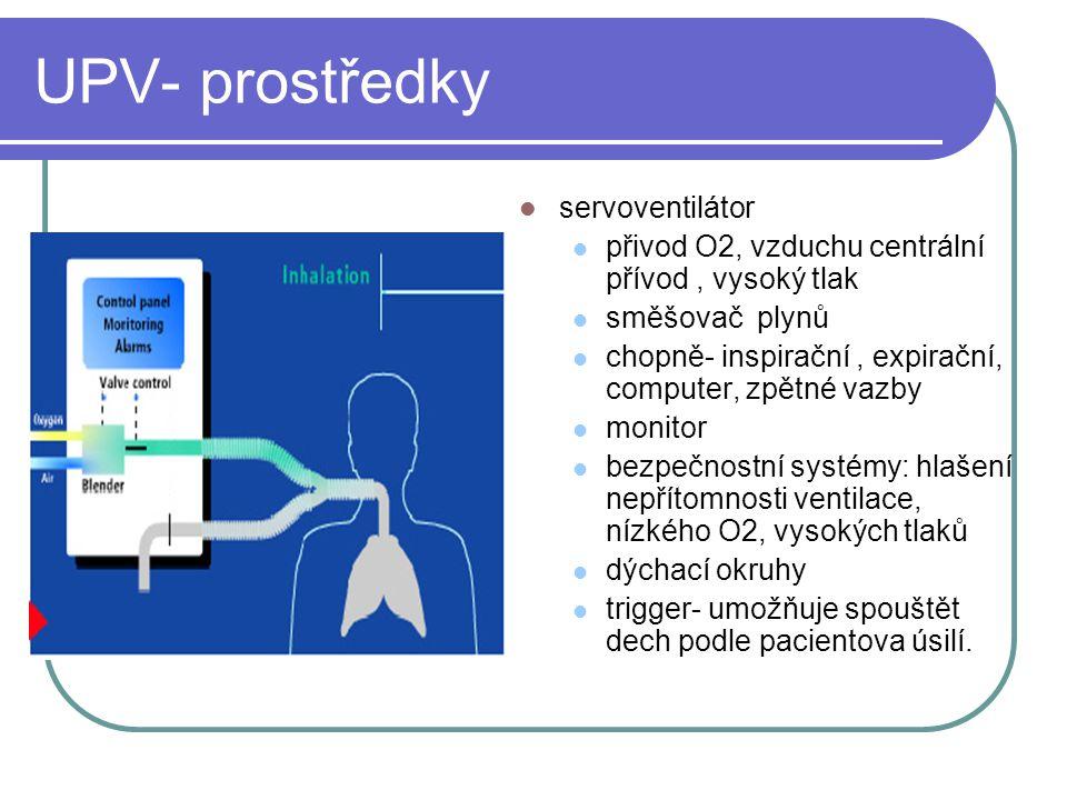 CPAP, continuous positive airway pressure pacient vdechuje ze směsi plynů, v okruhu je udržová přetlak (PEEP) speciální ventilátory sestavené systémy z s rezervoárem NIV non invaziv ventilation COPD kardiální selhání lze nastavit na servoventilátoru jako PSV, když PS=0