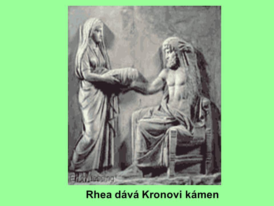 Rhea dává Kronovi kámen